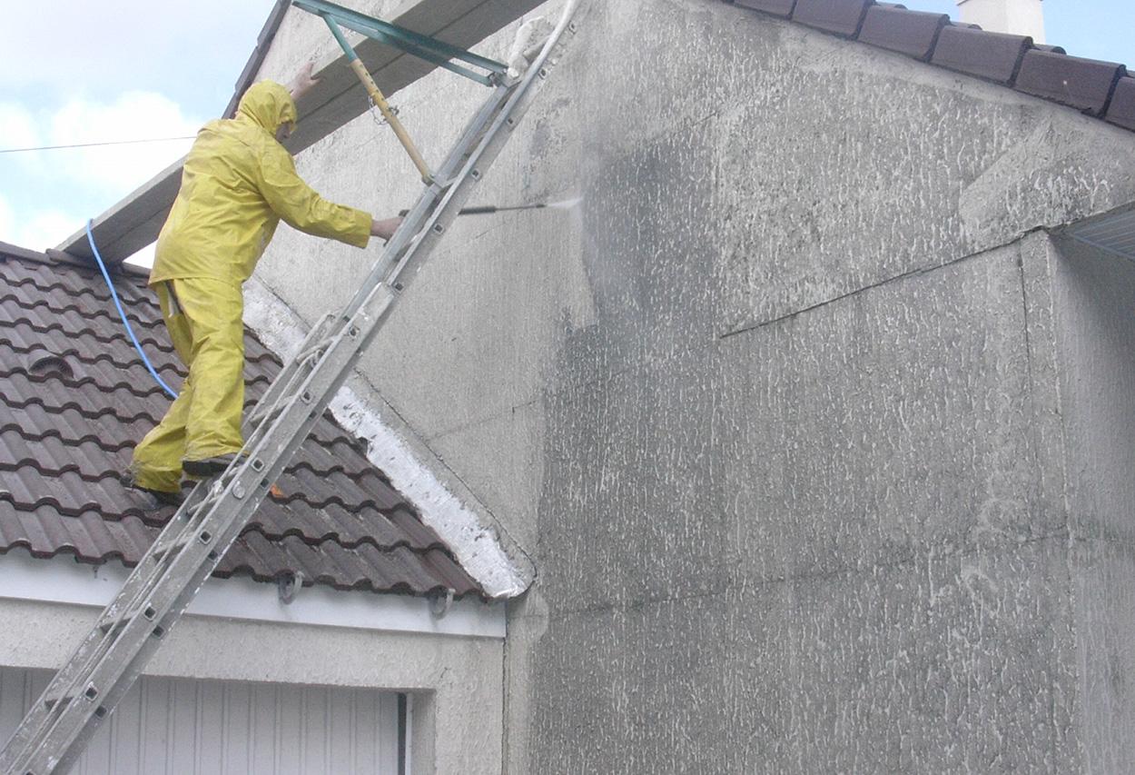 lavage façade Rouleau du peinture