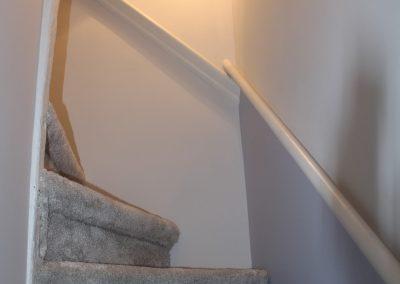 moquette escalier et peinture